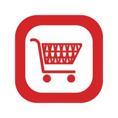 cart shopping commercial icon vector illustration design