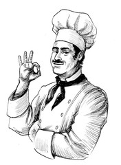 Chef in hat
