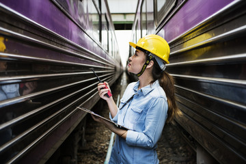 Woman Survey Train Safety Project Concept