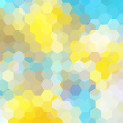 Abstract background consisting of yellow, blue, white hexagons. Geometric design for business presentations or web template banner flyer. Vector illustration