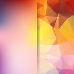 Abstract polygonal vector background. Light geometric vector illustration. Creative design template. Abstract vector background for use in design