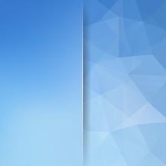 Abstract polygonal vector background. Blue geometric vector illustration. Creative design template. Abstract vector background for use in design