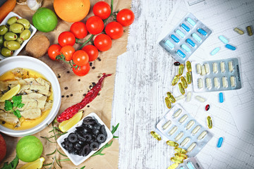 Concept of healthy eating (diet) and healthy lifestyle