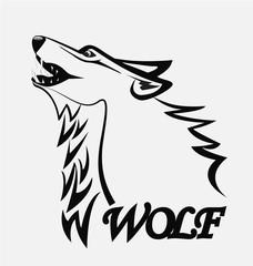 Wolf head logo silhouette