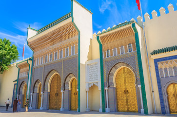 Gate to the palace of the king of Morocco