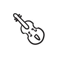 Cello sketch icon.