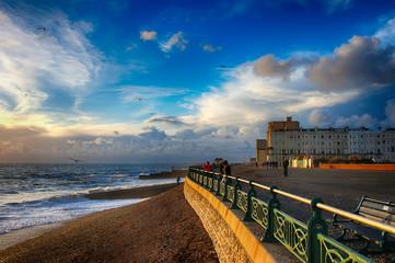 Brighton beach,England