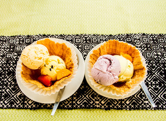 ice cream in plate