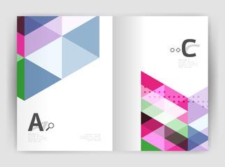 Modern business brochure or leaflet print cover template