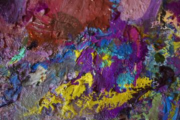 Artistic palette. paints