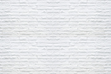 White brick wall pattern texture background.