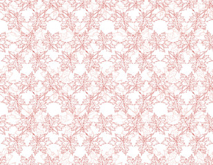 Image seamless pattern of falling maple leaves. Red tones. Can be used as poster, wallpaper, backdrop, background.