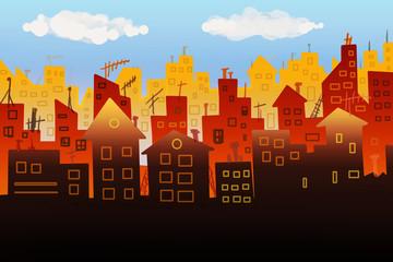 City panorama illustration