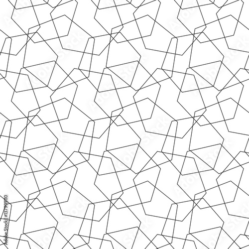 """""""Abstract Vector Seamless Pattern Mosaic Of Wire Hexagons"""
