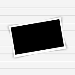 Retro photo frame with shadows. Vector illustration