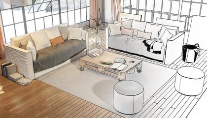 Postindustrial Penthouse Loft (overview)