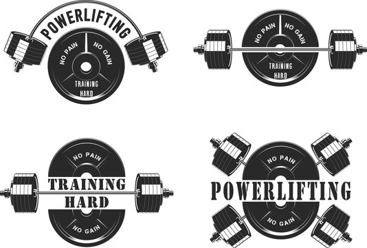 Icons for the gym and powerlifting