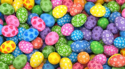 Easter eggs. 3d rendr illustrations.