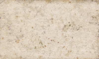 A bugged vintage paper texture (old and dirty material, full of stains).