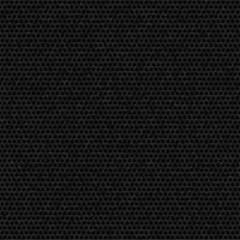 Carbon hexagon dark textured background. Seamless pattern of dirty comb. Isolated meshed backdrop