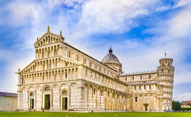 Wall Mural - Cathedral and the Leaning Tower of Pisa, Tuscany, Italy