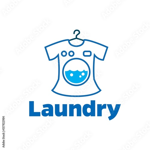 """""""Laundry and cleaning logo design template"""" Stock image ..."""
