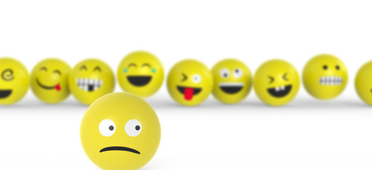 Smiley fühlt sich unwohl