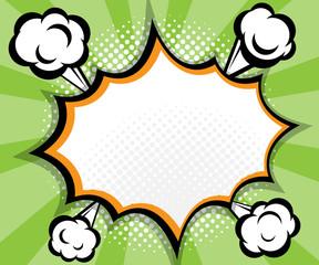 abstract blank speech bubble pop art, comic book background