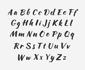 Vector handwritten alphabet. Uppercase and lowercase letters