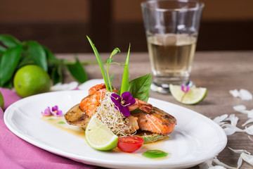 A delicious dish of grilled salmon