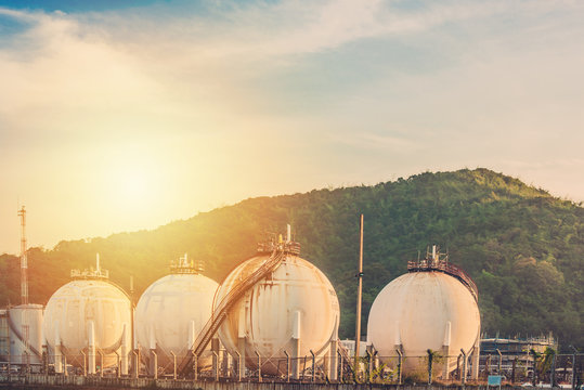 LPG gas storage sphere tanks in Thailand