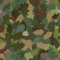 Spotted camouflage in the form of oak leaves.