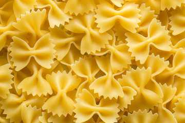 Farfalle italian pasta background
