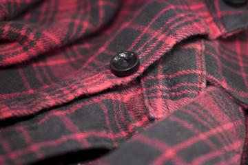 Red plaid flannel fabric cloth