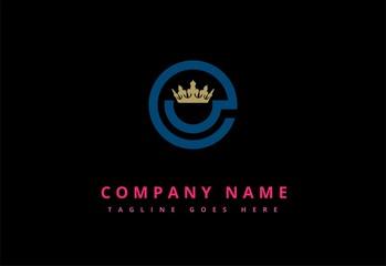 abstract crown shape company logo