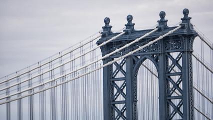 Detail view of the Manhattan Bridge