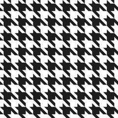 Houndstooth Pattern in Black and White