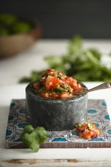 Tomato salsa with fresh coriander