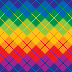 Rainbow Argyle Pattern repeats seamlessly.