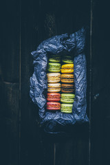 Assorted Colorful Macarons