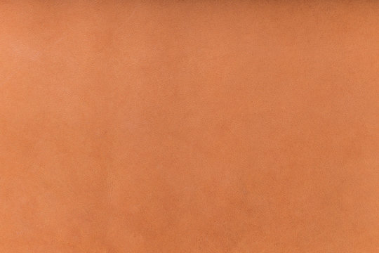 Closeup image of cow brown leather skin texture.