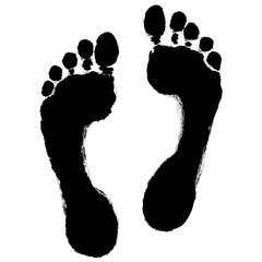 Menschlicher Fußabdruck  – schwarz-weiß, Vektor, freigestellt