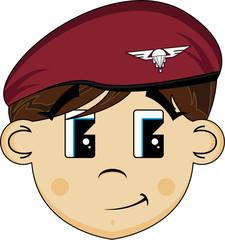 Cute Cartoon Army Paratrooper