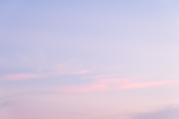 Abstract soft blue sky background in the evening
