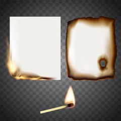 Set a white sheet of paper on fire and match.