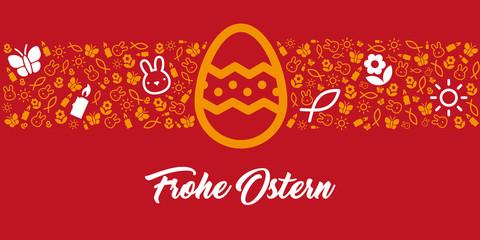Grußkarte zu Ostern mit Frohe Ostern