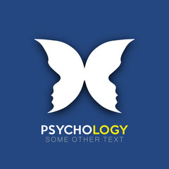 Psychology icon design optical effect in vector format