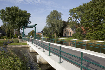 Bridge near canal the Netherlands