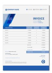 Elegant Vector Invoice Template For Creative Design.
