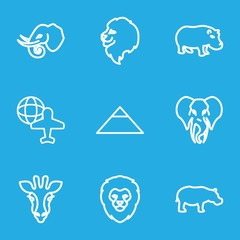 Set of 9 africa outline icons